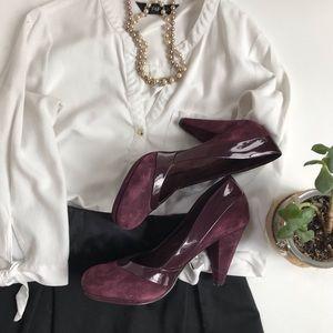 Steve Madden Kasino purple suede heels-10